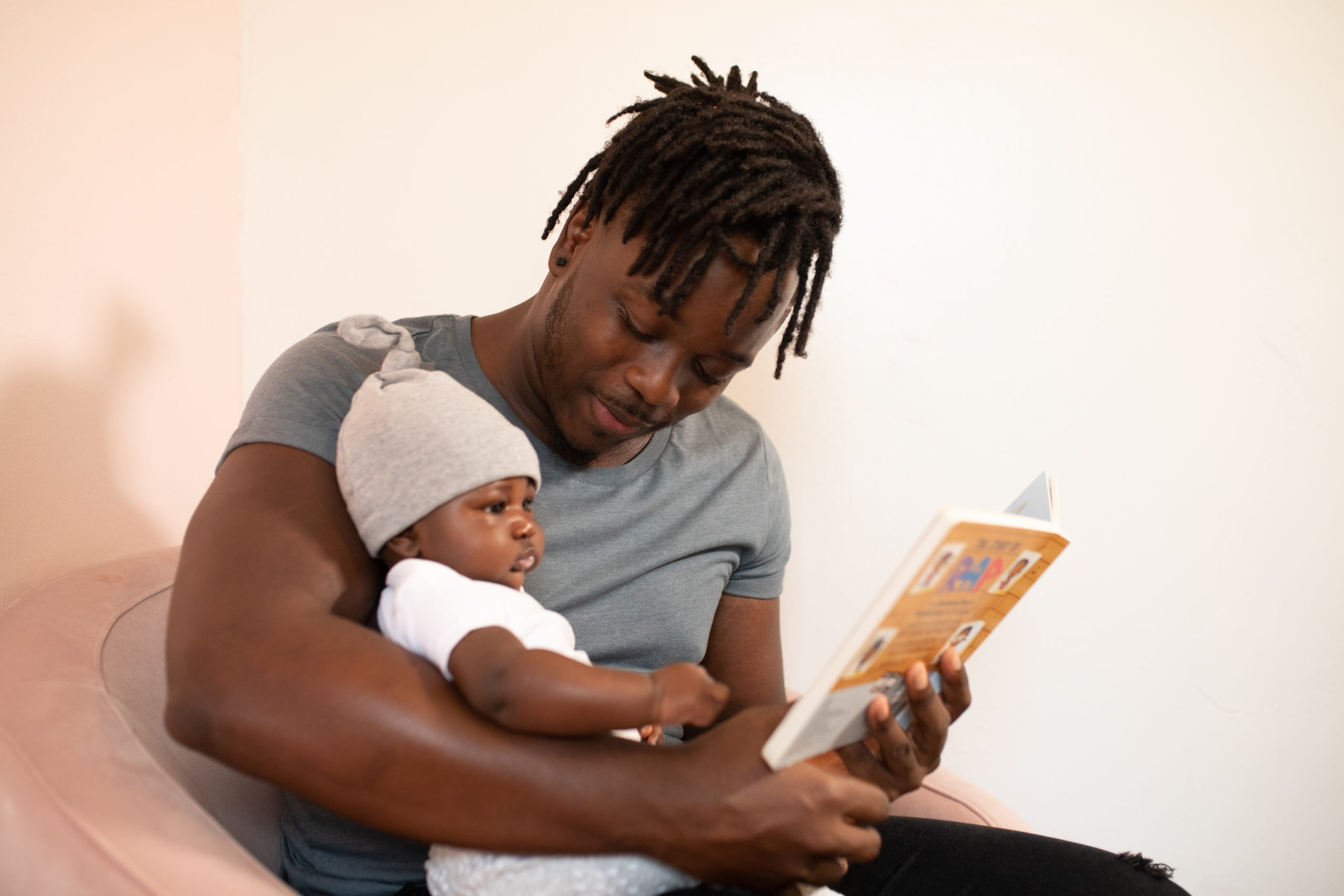 Black Father and his baby