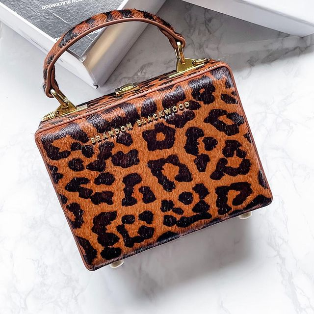Brandon Blackwood Leopard print bag