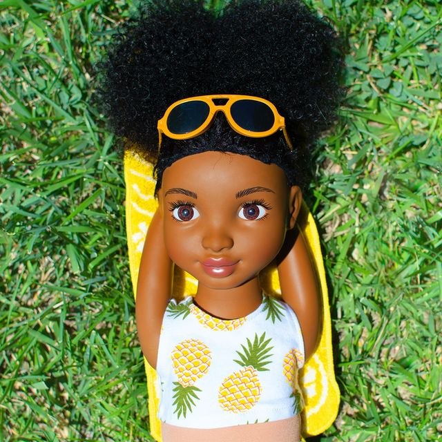 Healthy Roots Doll in the sunshine